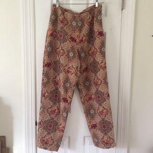 Talbots paisley safari print trouser